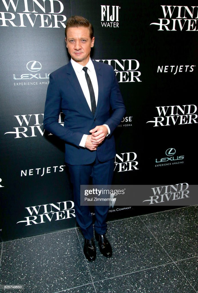 Jeremy Renner attends The Weinstein Company With FIJI, Grey Goose, Lexus And NetJets Host A Screening Of 'Wind River' - Arrivals at The Museum of Modern Art on August 2, 2017 in New York City.