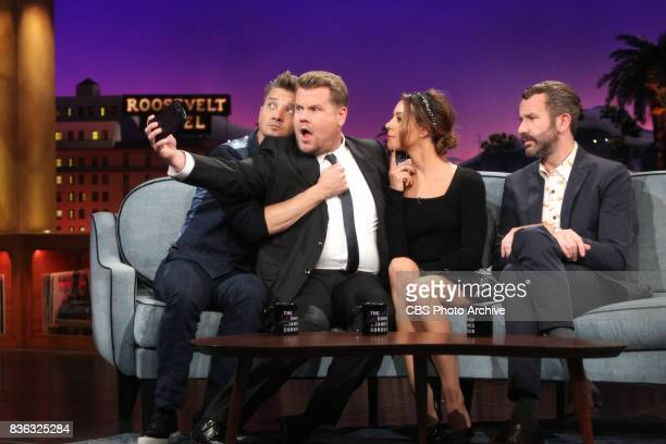 Jeremy Renner Aubrey Plaza Chris O'Dowd visit with James Corden during 'The Late Late Show with James Corden' Thursday August 10 2017 On The CBS...