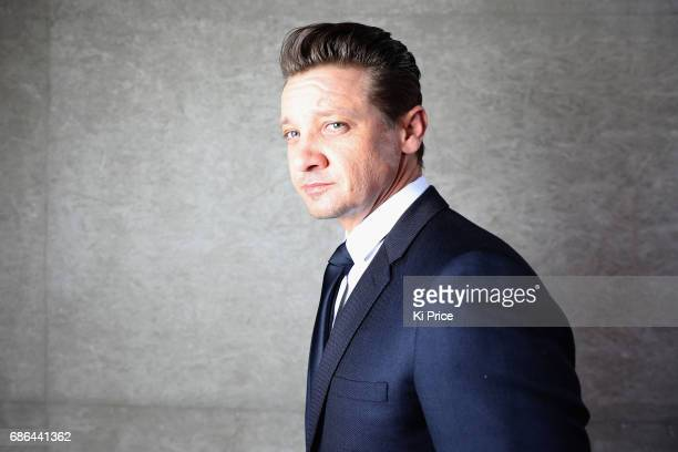 Jeremy Renner backstage at the Fashion for Relief event during the 70th annual Cannes Film Festival at Aeroport Cannes Mandelieu on May 21 2017 in...