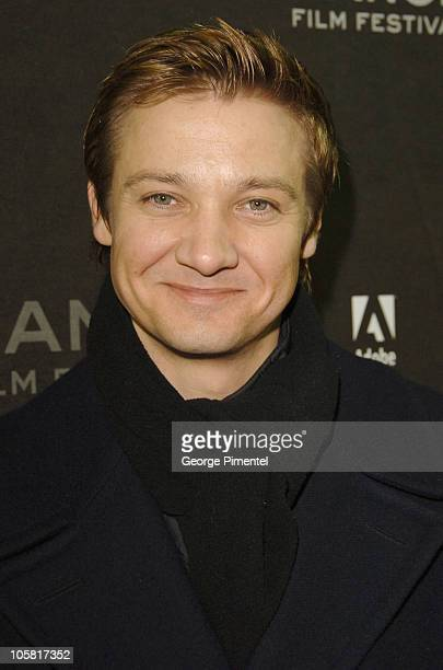 Jeremy Renner during 2006 Sundance Film Festival 'A Little Trip to Heaven' Premiere at Eccles in Park City Utah United States