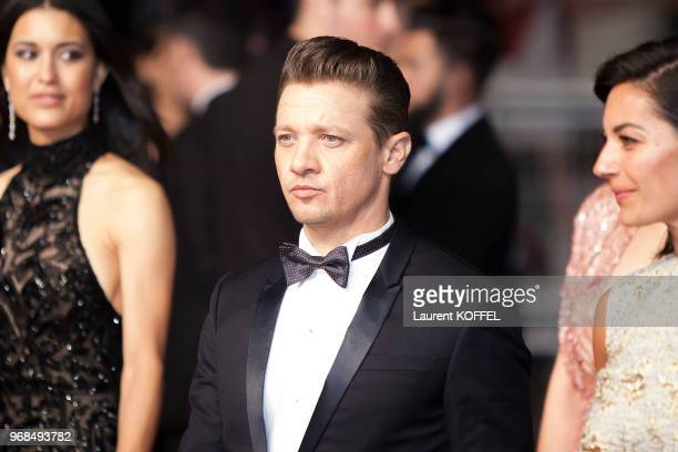 Jeremy Renner Elizabeth Olsen and Julia Jones attend the 'The Square' screening during the 70th annual Cannes Film Festival at Palais des Festivals...