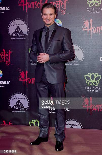 Jeremy Renner on the red carpet at the presentation of the movie Hansel and Gretel Witch Hunters on January 10 2013 in Mexico City Mexico