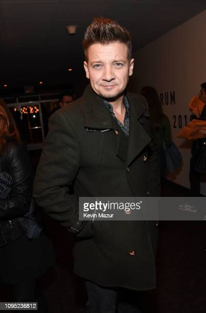 Jeremy Renner poses backstage during I Am The Highway A Tribute To Chris Cornell at The Forum on January 16 2019 in Inglewood California