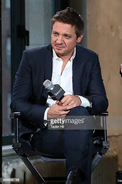 Jeremy Renner speaks as part of AOL's BUILD Series Presents Jeremy Renner And Michael Cuesta Kill The Messenger at AOL Studios In New York on October...