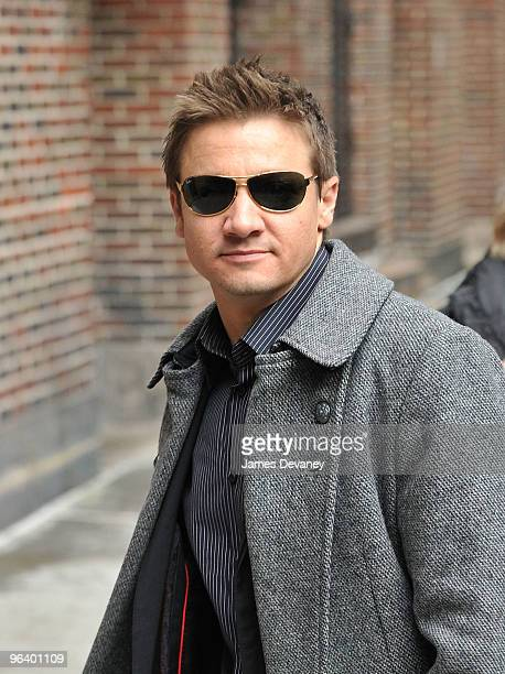 Jeremy Renner visits Late Show With David Letterman at the Ed Sullivan Theater on February 3 2010 in New York City