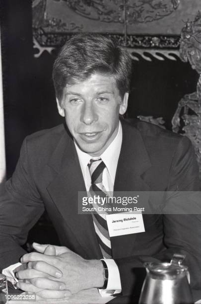 Jeremy Richdale, Chairman of the Diamond Importers' Association, attending the Diamond Fortnight '78 at the Hilton Hotel. The event was a promotional...