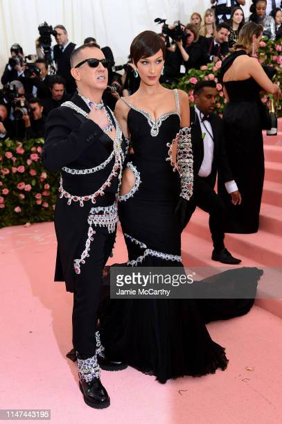 Jeremy Scott and Bella Hadid attend The 2019 Met Gala Celebrating Camp: Notes on Fashion at Metropolitan Museum of Art on May 06, 2019 in New York...