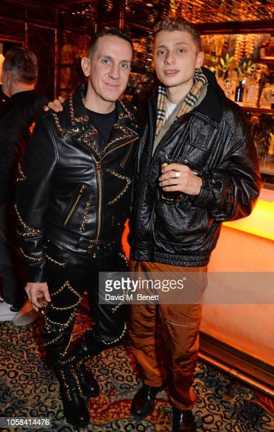 Jeremy Scott and Blondey McCoy attend the Moschino [TV] HM London Launch Party hosted by Jeremy Scott at Annabels on November 6 2018 in London England