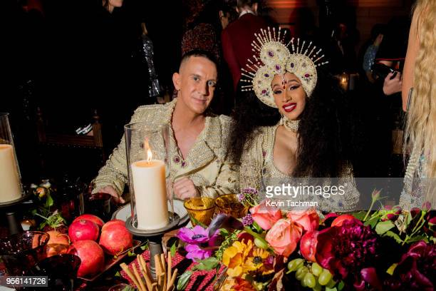 Jeremy Scott and Cardi B attend the Heavenly Bodies: Fashion & The Catholic Imagination Costume Institute Gala at The Metropolitan Museum of Art on...