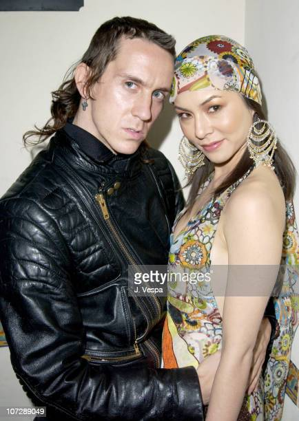 Jeremy Scott and China Chow during Women's Wear Daily The Ultimate Fashion Authority and Diamond Information Center Host Dazzling With Color and...