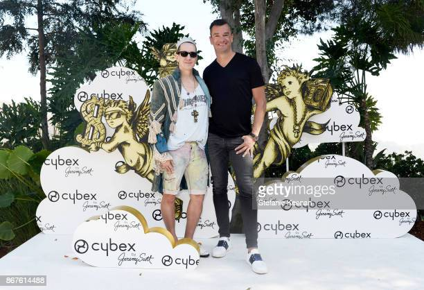 Jeremy Scott and CYBEX Founder Martin Pos at the Cybex by Jeremy Scott Cherub Halloween Launch Celebration on October 28 2017 in Los Angeles...