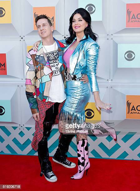 Jeremy Scott and Katy Perry attends the 51st Academy of Country Music Awards at MGM Grand Garden Arena on April 3 2016 in Las Vegas Nevada