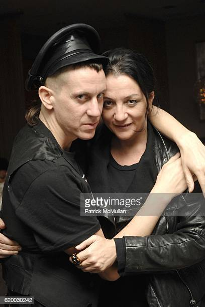 Jeremy Scott and Kelly Cutrone attend People's Revolution Presents MOTOROLA's AURA RETURN TO ARTISTRY Dinner at RESTAURANT at Sunset Marquis on...