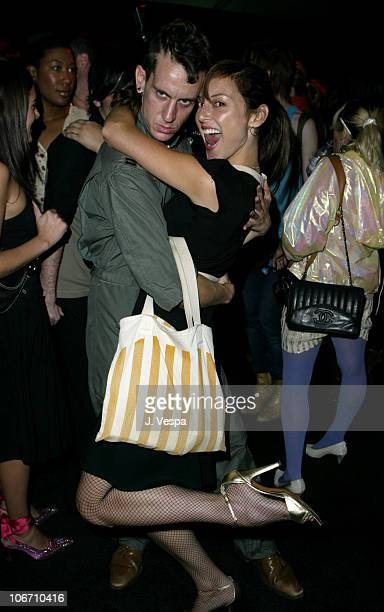 Jeremy Scott and Lola Glaudini during 2003 Smashbox Fashion Week Los Angeles Jeremy Scott Spring Collection 2004 Show at Smashbox Studios in Culver...