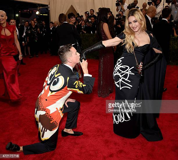 "Jeremy Scott and Madonna attend the ""China: Through The Looking Glass"" Costume Institute Benefit Gala at the Metropolitan Museum of Art on May 4,..."