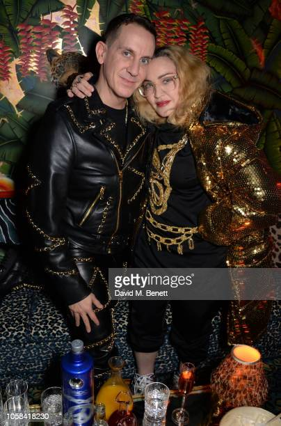 Jeremy Scott and Madonna attend the Moschino [TV] HM London Launch Party hosted by Jeremy Scott at Annabels on November 6 2018 in London England