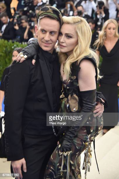 Jeremy Scott and Madonna attend the 'Rei Kawakubo/Comme des Garcons Art Of The InBetween' Costume Institute Gala at Metropolitan Museum of Art on May...