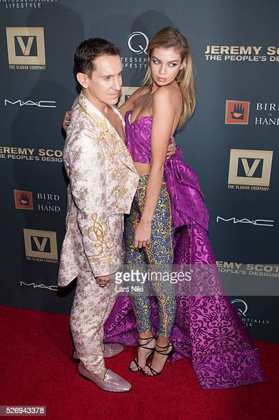 Jeremy Scott and Stella Maxwell attend Jeremy Scott The' People's Designer New York premiere at the Paris Theatre in New York City �� LAN
