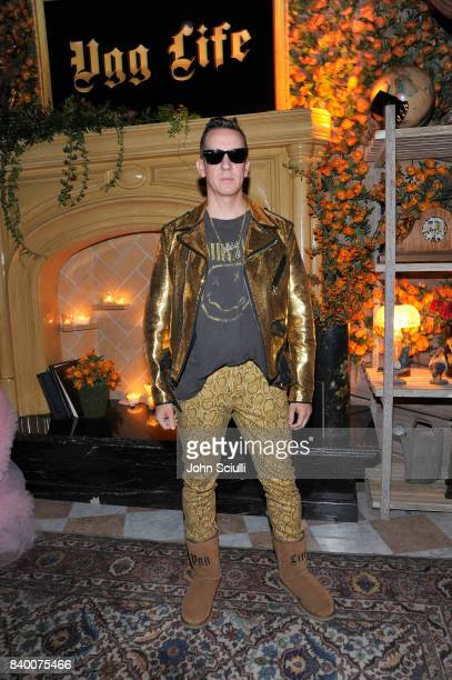 Jeremy Scott at UGG x Jeremy Scott Collaboration Launch Event at The hwood Group's 'Poppy' on August 27 2017 in West Hollywood California