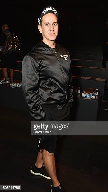 Jeremy Scott attends attends Jeremy Scott - Front Row - September 2016 - New York Fashion Week: The Shows at The Arc, Skylight at Moynihan Station on...