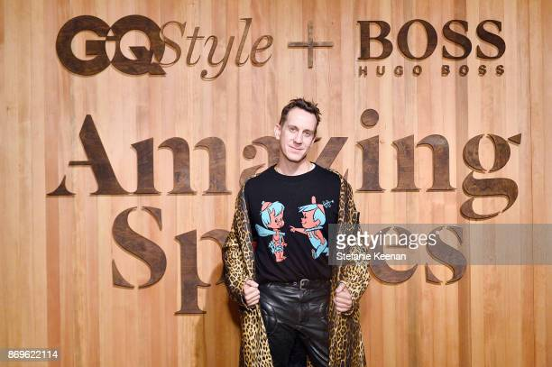 Jeremy Scott attends GQ Style Hugo Boss celebrate Amazing Spaces with Edgar Ramirez at John Lautner's Harvey House on November 2 2017 in Los Angeles...