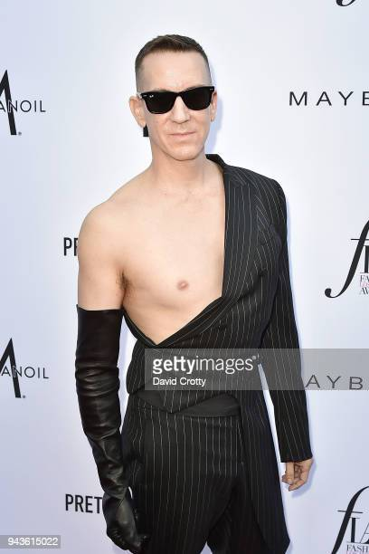Jeremy Scott attends The Daily Front Row's 4th Annual Fashion Los Angeles Awards - Arrivals at The Beverly Hills Hotel on April 8, 2018 in Beverly...