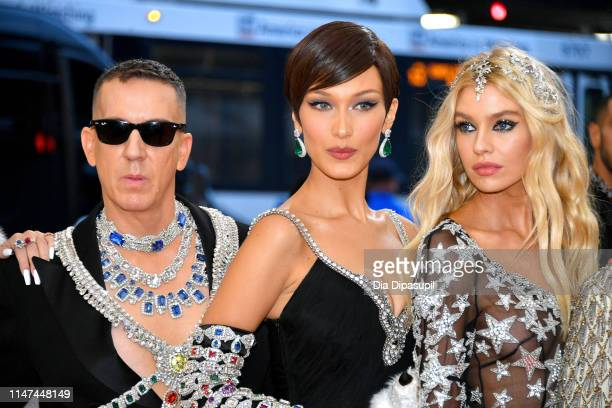 Jeremy Scott Bella Hadid and Stella Maxwell attend The 2019 Met Gala Celebrating Camp Notes on Fashion at Metropolitan Museum of Art on May 06 2019...