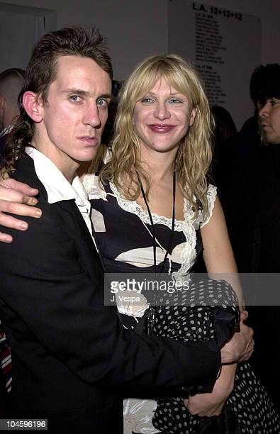 Jeremy Scott Courtney Love during Jeremy Scott Fashion Show with Makeup by Fred Farrugia of Lancome at Pacific Design Center in West Hollywood...
