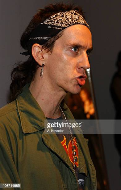 Jeremy Scott designer during Jeremy Scott Spring/Summer 2003 Fashion Show Venus Rising Arrivals and Seating at MOCA at the Geffen Contemporary Museum...