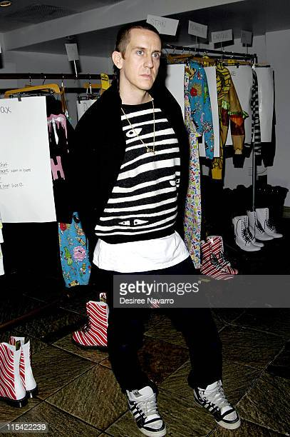 Jeremy Scott designer during Olympus Fashion Week Fall 2006 Jeremy Scott Front Row and Backstage at Altman Buliding in New York City New York United...
