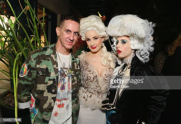 Jeremy Scott Dita Von Teese and Bea Akerlund attend the birthday celebration of Dita Von Teese at the private residence of Jonas Tahlin CEO Of...