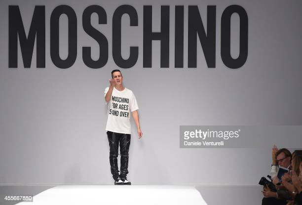 Jeremy Scottl walks the runway during the Moschino show as a part of Milan Fashion Week Womenswear Spring/Summer 2015 on September 18 2014 in Milan...