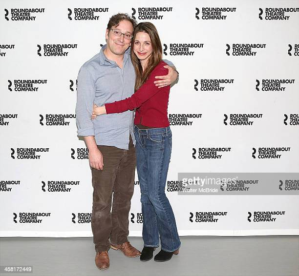 Jeremy Shamos and Marin Hinkle attend the Photo Call for the Roundabout Theatre Company's 'Dinner with Friends' at their rehearsal studio on December...