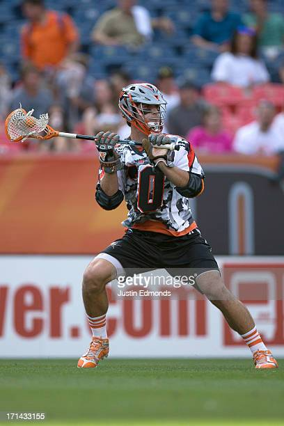 Jeremy Sieverts of the Denver Outlaws in action against the Ohio Machine at Sports Authority Field at Mile High on June 22 2013 in Denver Colorado