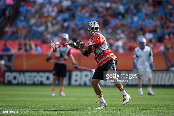 Jeremy Sieverts of the Denver Outlaws shoots and scores a twopoint goal during the third quarter against the Ohio Machine at Sports Authority Field...