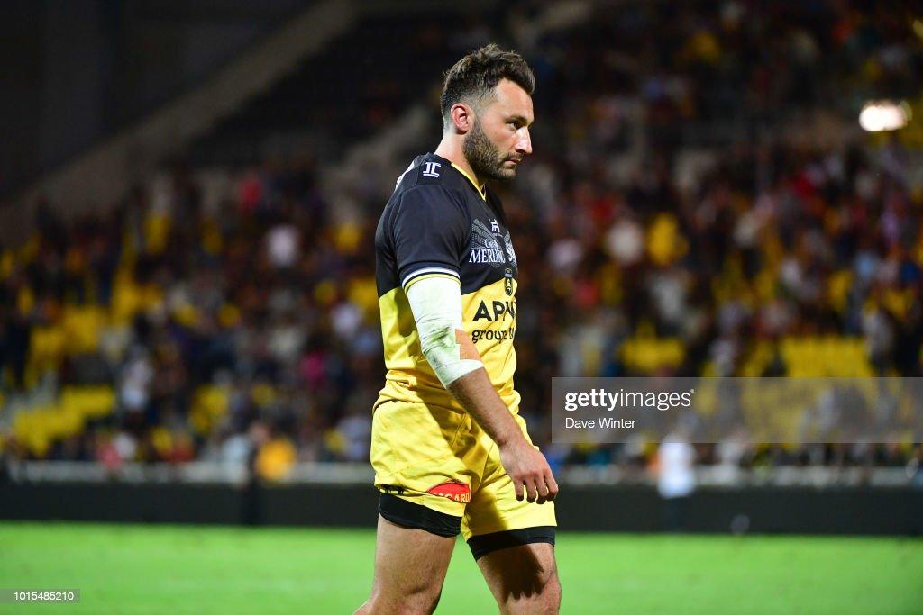 Jeremy Sinzelle of La Rochelle during the pre-season friendly match between La Rochelle and Stade Francais on August 10, 2018 in La Rochelle, France.