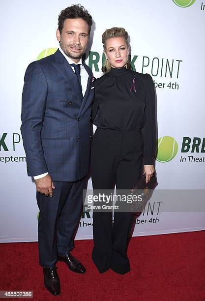 Jeremy Sisto and Addie Lane arrives at the Special Screening Of Broad Green Pictures' Break Point at TCL Chinese 6 Theatres on August 27 2015 in...