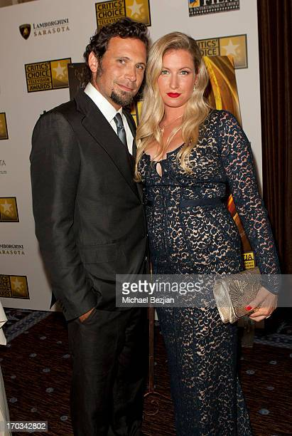 Jeremy Sisto and Addie Lane attend Critics' Choice Television Awards VIP Lounge on June 10 2013 in Los Angeles California