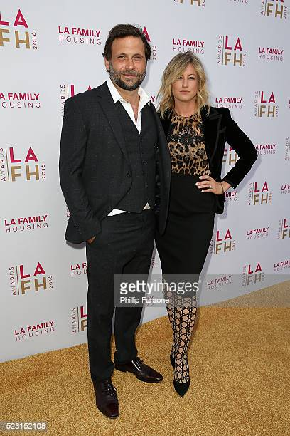 Jeremy Sisto and Addie Lane attend LA Family Housing's Annual Awards 2016 at The Lot on April 21 2016 in West Hollywood California