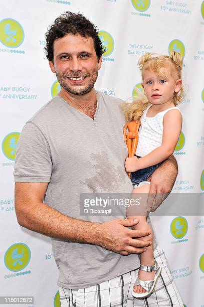 Jeremy Sisto and daughter Charlie Ballerina Sisto attend the 10th Anniversary Baby Buggy Bedtime Bash at the Victorian Gardens at Wollman Rink...