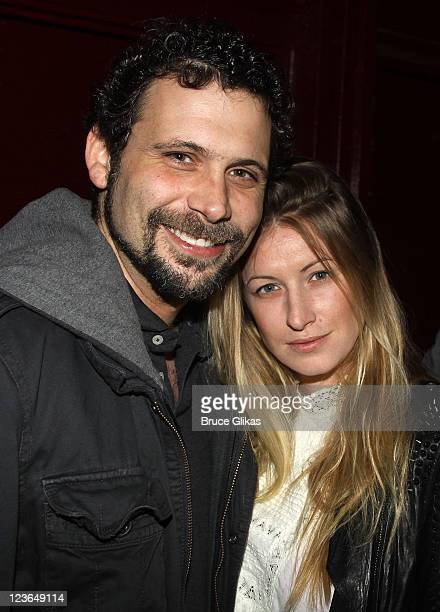 Jeremy Sisto and wife Addie Lane pose at The Opening Night of The Break of Noon at Lucille Lortel Theatre on November 22 2010 in New York City