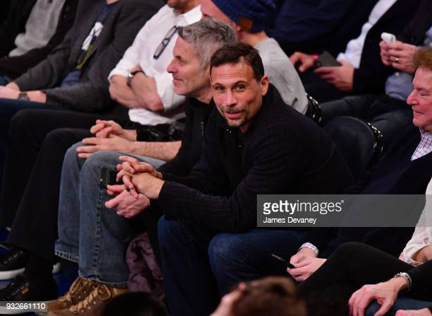 Jeremy Sisto attends New York Knicks Vs Philadelphia 76ers game at Madison Square Garden on March 15 2018 in New York City