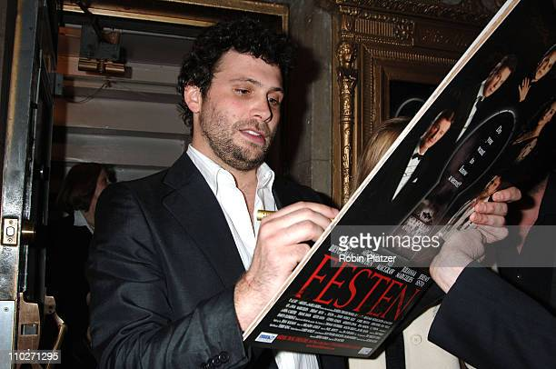 Jeremy Sisto during Festen Broadway Opening Night Curtain Call and Departures at The Music Box Theatre in New York New York United States
