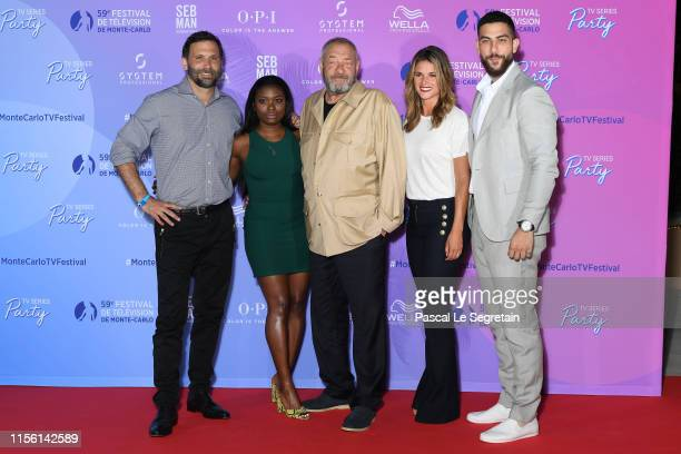 Jeremy Sisto Ebonee Noel Dick Wolf Missy Peregrym and Zeeko Zaki arrive at the 59th Monte Carlo TV Festival TV Series Party on June 15 2019 in...
