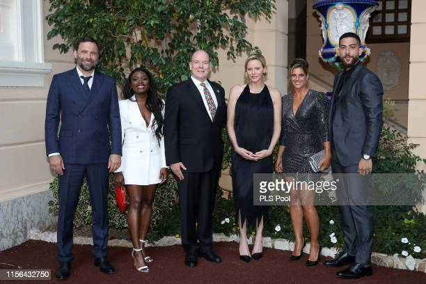 Jeremy Sisto Ebonee Noel Prince Albert II of Monaco Princess Charlene of Monaco Missy Peregrym and Zeeko Zaki attend a cocktail during the 59th Monte...