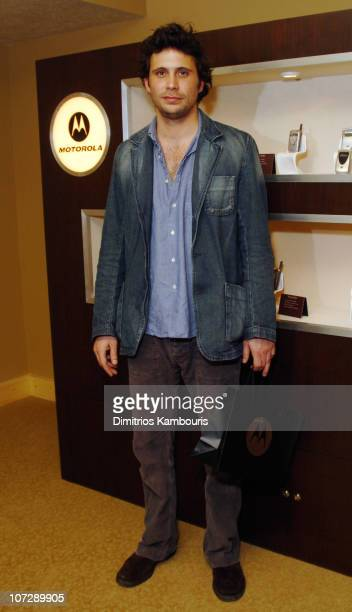 Jeremy Sisto in front of Motorola display during 2004 Park City Motorola Lodge at Motorolla House in Park City Utah United States