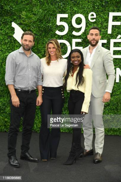 Jeremy Sisto Missy Peregrym Ebonee Noel and Zeeko Zaki from the serie FBI attend the 59th Monte Carlo TV Festival Day Two on June 15 2019 in...