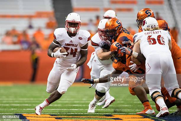 Jeremy Smith of the Louisville Cardinals carries the ball for a touchdown during the fourth quarter against the Syracuse Orange on September 9 2016...