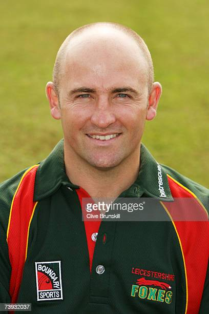 Jeremy Snape of Leicestershire poses during the Leicestershire County Cricket Club photocall at the County Ground on April 16 2007 in Leicester,...