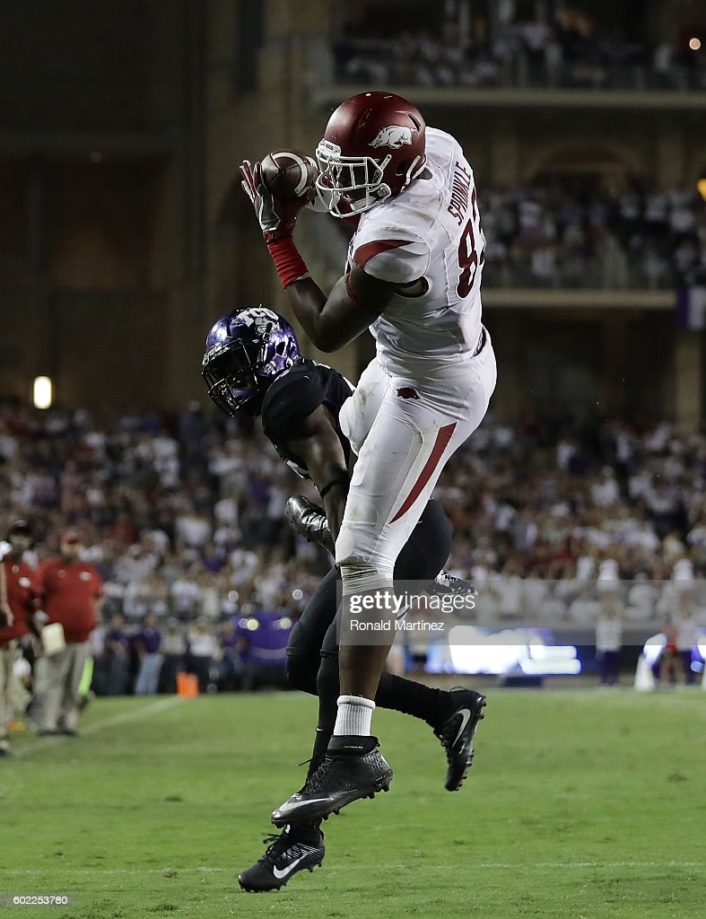 Arkansas v TCU : News Photo